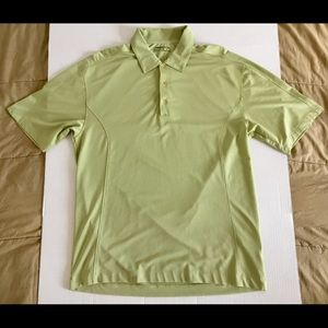 Nike Golf Fit Dry Green White Classic Polo Sz Med